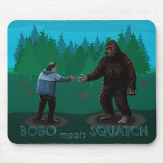 Bobo Meets Squatch Mouse Pad