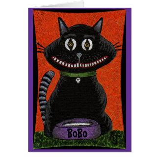 BoBo The Halloween Cat - greeting card (2)