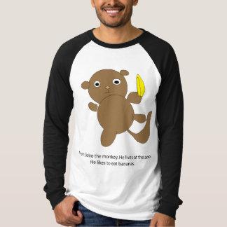 Bobo the Monkey Long Sleeve Raglan T-shirt