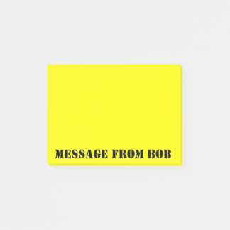 Bob's Notes Dayglow Yellow