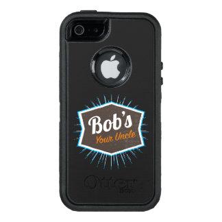 Bob's Your Uncle Funny Man Named Bob Joke OtterBox Defender iPhone Case