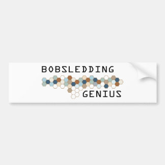 Bobsledding Genius Bumper Sticker