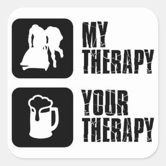 bobsledding  my therapy designs square sticker