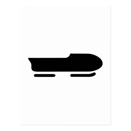 Bobsleigh logo postcard