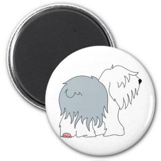 Bobtail Sheepdog 2 Inch Round Magnet