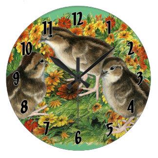 Bobwhite Garden Chicks Clocks