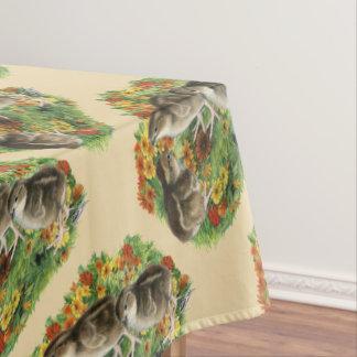 Bobwhite Garden Chicks Tablecloth