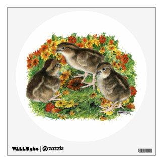 Bobwhite Garden Chicks Wall Sticker