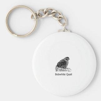 Bobwhite Quail Line Art Keychain