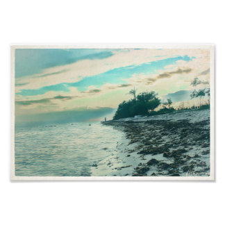 Boca Chica Beach Sunset Dedicated to Red Photo Print