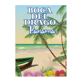 Boca del Drago Panama Beach travel poster Acrylic Wall Art