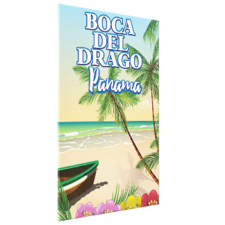 Boca del Drago Panama Beach travel poster Canvas Print