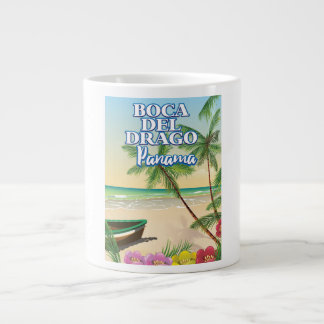 Boca del Drago Panama Beach travel poster Large Coffee Mug