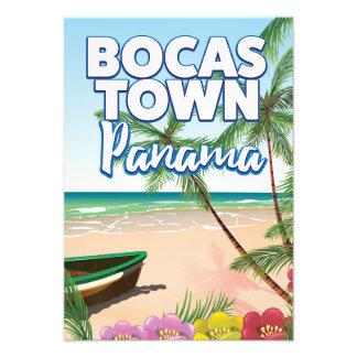 Bocas Town Panama Beach travel poster