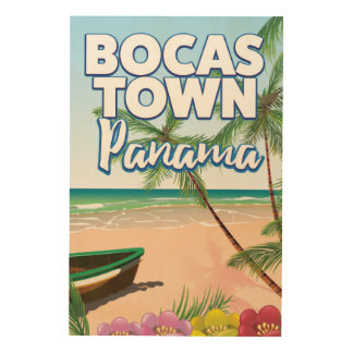 Bocas Town Panama Beach travel poster