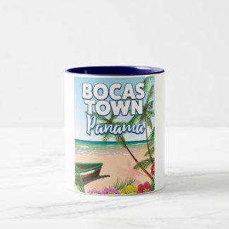 Bocas Town Panama Beach travel poster Two-Tone Coffee Mug