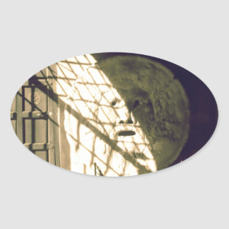 Bocca della Verita (The Mouth of Truth) Oval Sticker