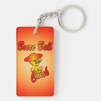 Bocce Ball #5 Double-Sided Rectangular Acrylic Keychain