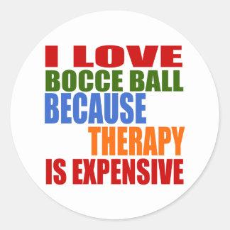 Bocce Ball Designs Classic Round Sticker