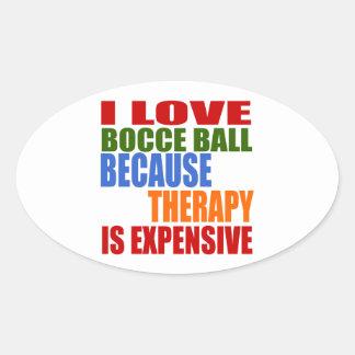 Bocce Ball Designs Oval Sticker