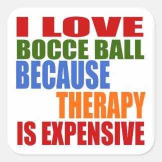 Bocce Ball Designs Square Sticker
