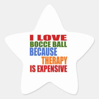 Bocce Ball Designs Star Sticker