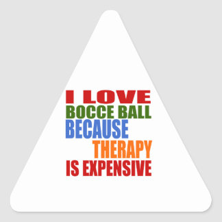 Bocce Ball Designs Triangle Sticker