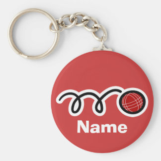 Bocce ball keychain with personalized name