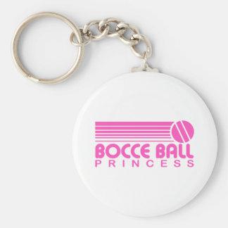 Bocce Ball Princess Basic Round Button Keychain