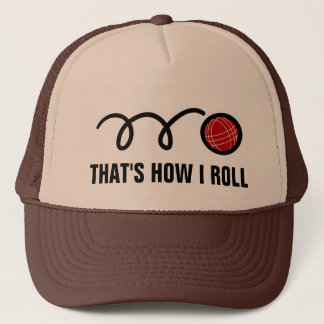 Bocce ball trucker hat for players and fans