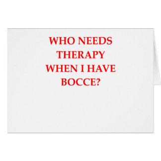 BOCCE CARD