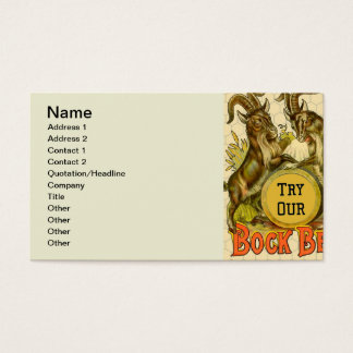 Bock Beer Goats Vintage Advertising Business Card