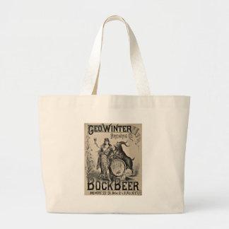 Bock Beer old advertising Large Tote Bag