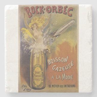 """Bock Orbec"" vintage champagne  sparkling wine Stone Coaster"