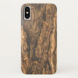 Bocote (wood) Finish iPhone X Case
