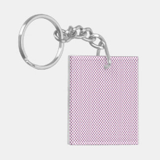 Bodacious Polka Dots Double-Sided Square Acrylic Keychain