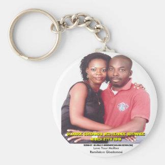 Bode Wed Kenny (MAKE YOUR OWN )MOJI GBADAMOSI Basic Round Button Keychain