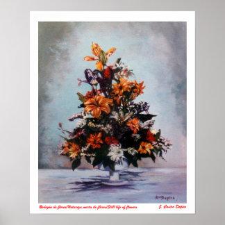 Bodegón de flores Still life of flowers Poster