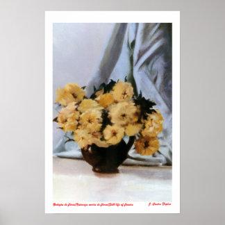 Bodegón de flores Still life of flowers Posters