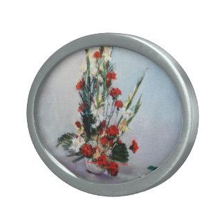 Bodegón of flowers/Still life of flowers Belt Buckle