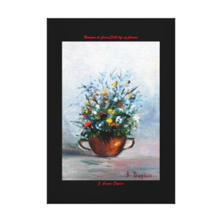 Bodegón of flowers/Still life of flowers Canvas Print