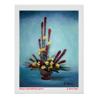 Bodegón of flowers/Still life of flowers Posters