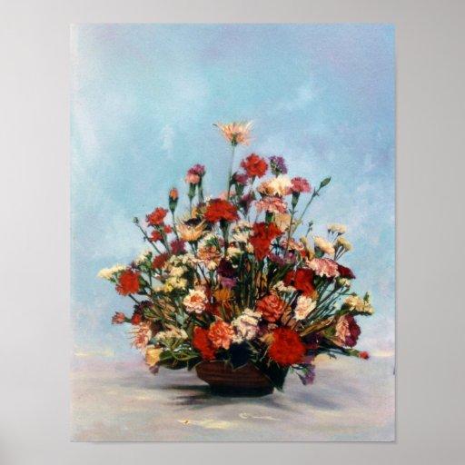 Bodegón of flowers/Still life of flowers Poster