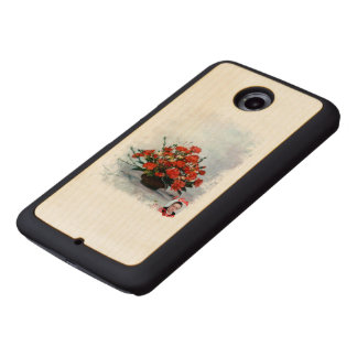 Bodegón of flowers/Still life of flowers Wood Phone Case