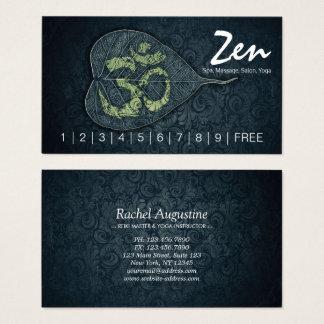 Bodhi Leaf OM Symbol YOGA Studio Loyalty Punch Business Card