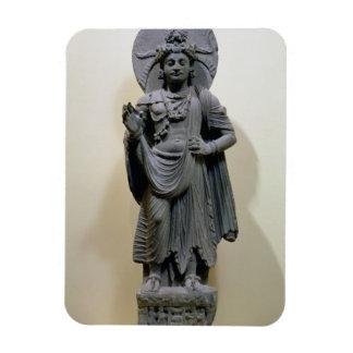 Bodhisattva figure, from Mekha-Sanda near Shabaz-G Rectangular Photo Magnet