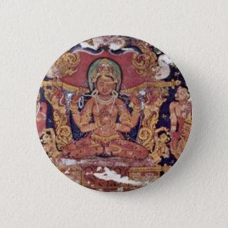 """Bodhisattva Prajnaparamita """" By Indischer Maler U 2 Inch Round Button"""