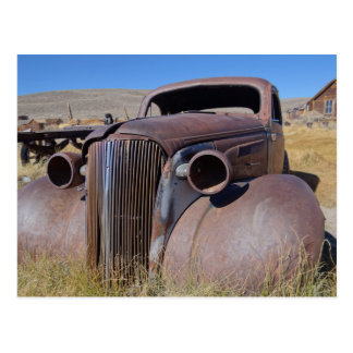 Bodie Ghost Town Classic Car Photo Postcard