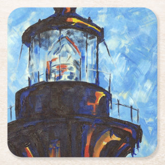 Bodie Lighthouse Top Square Paper Coaster
