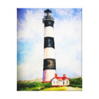 Bodie Lighthouse  watercolor by Mary Dunham Walter Canvas Print
